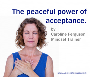 Woman practising acceptance