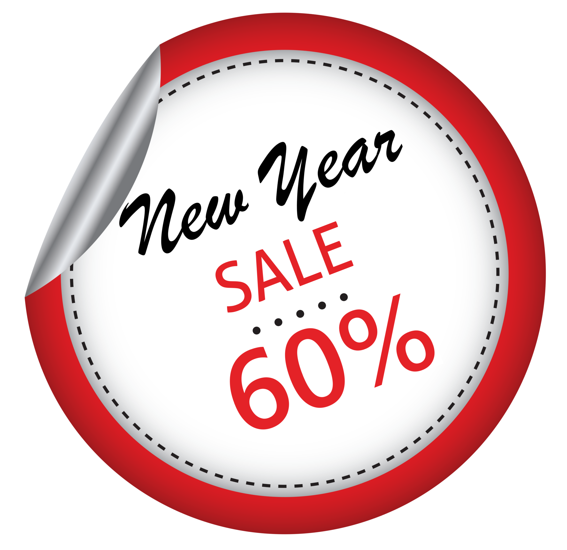 Label for new year sale